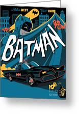 Batman Art Greeting Card