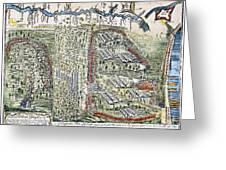 Battle Of Lake George, 1755 Greeting Card