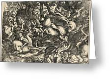 Battle Of Nude Men Greeting Card