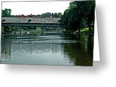 Bavarian Covered Bridge Greeting Card