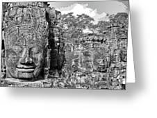 Bayon Faces  Greeting Card