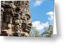 Bayon Temple, Anghor Greeting Card