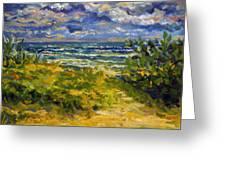 Beach At Delray Greeting Card