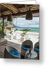 Beach Bar In Sok San Area Of Koh Rong Island Cambodia Greeting Card