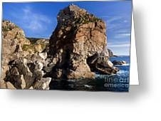 Beach In Sintra Natural Park Greeting Card