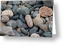 Beach Of Stones Greeting Card