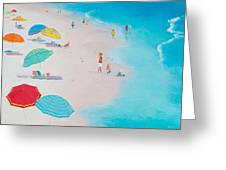 Beach Painting - One Summer Greeting Card