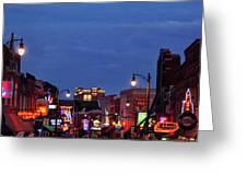 Beale Street, Memphis Greeting Card