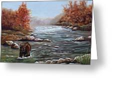 Bear In Fall Greeting Card