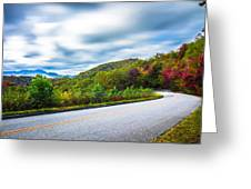 Beautiful Autumn Landscape In North Carolina Mountains Greeting Card