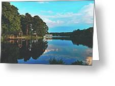 Beautiful Bunn Lake - Zebulon, North Carolina Greeting Card