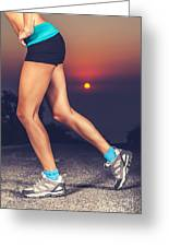 Beautiful Sportive Womens Legs Greeting Card