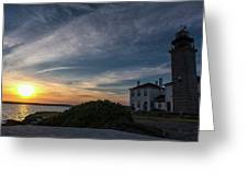 Beavertail Lighthouse Greeting Card