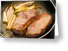 Beef Tenderloins With Endives Greeting Card