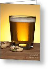 Beer In Glass Greeting Card
