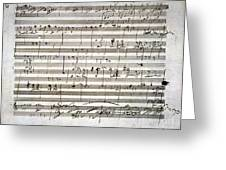 Beethoven Manuscript Greeting Card