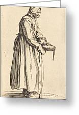 Beggar Woman With Pan Greeting Card