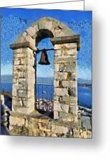 Belfry On Palamidi Castle Greeting Card
