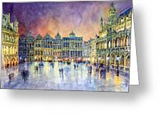 Belgium Brussel Grand Place Grote Markt Greeting Card