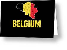 Belgium Flag Apparel Greeting Card