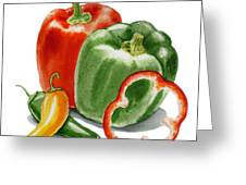 Bell Peppers Jalapeno Greeting Card