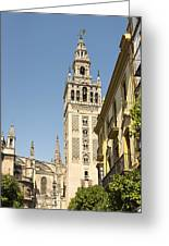 Bell Tower - Cathedral Of Seville - Seville Spain Greeting Card