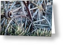 Belmont Broken Wagon Wheels 1649 Greeting Card