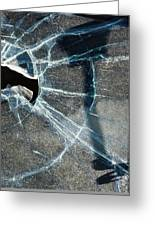 Belmont Cracked Window And Shadow 1599 Greeting Card