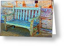 Benched Greeting Card