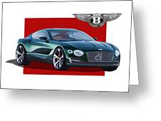 Bentley E X P  10 Speed 6 With  3 D  Badge  Greeting Card