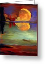 Beyond Sunset Pond Greeting Card