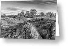 Beyond The Rocks Greeting Card