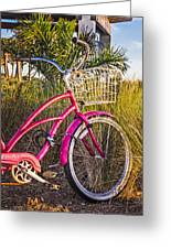Bicycle At The Beach II Greeting Card