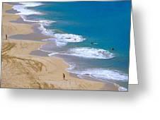 Big Beach On Big Island Of Hawaii Greeting Card
