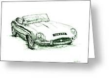 E Type Greeting Card