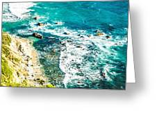 Big Sur California Coastline On Pacific Ocean Greeting Card