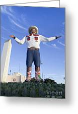 Big Tex In Dallas Texas Greeting Card