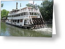 Big Wheel Boat Greeting Card