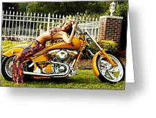Bikes And Babes Greeting Card