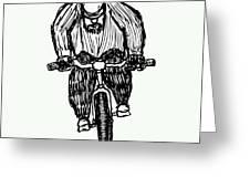 Biking Man Greeting Card