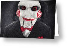 Billy The Puppet Greeting Card