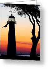 Biloxi Lighthouse At Dusk Greeting Card