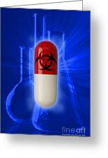Biohazard Symbol On Capsule Greeting Card