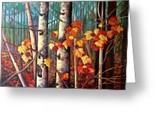 Birch And Maple Greeting Card