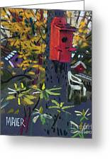 Birdhouses And Chairs Greeting Card