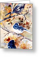 Birds Of Different Feathers Greeting Card