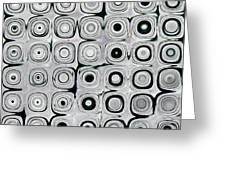 Black And White Circles I Greeting Card by Patty Vicknair