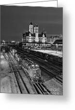 Black And White Fine Art Print Of Union Station In Nashville, Tennessee Greeting Card