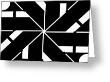 Black And White Geometric Greeting Card