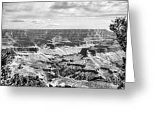 Black Grand Canyon  Greeting Card